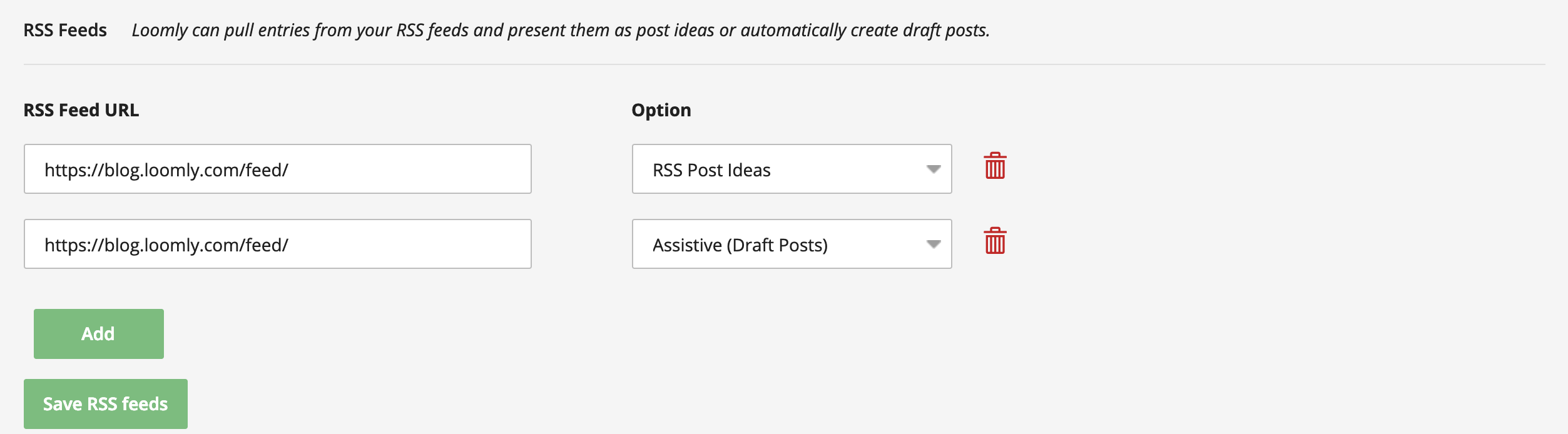 Leverage RSS Feeds For Inspiration In Loomly Assistive Feature