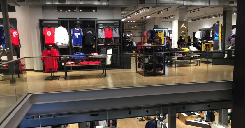 Brand consistency shopping at another Nike store