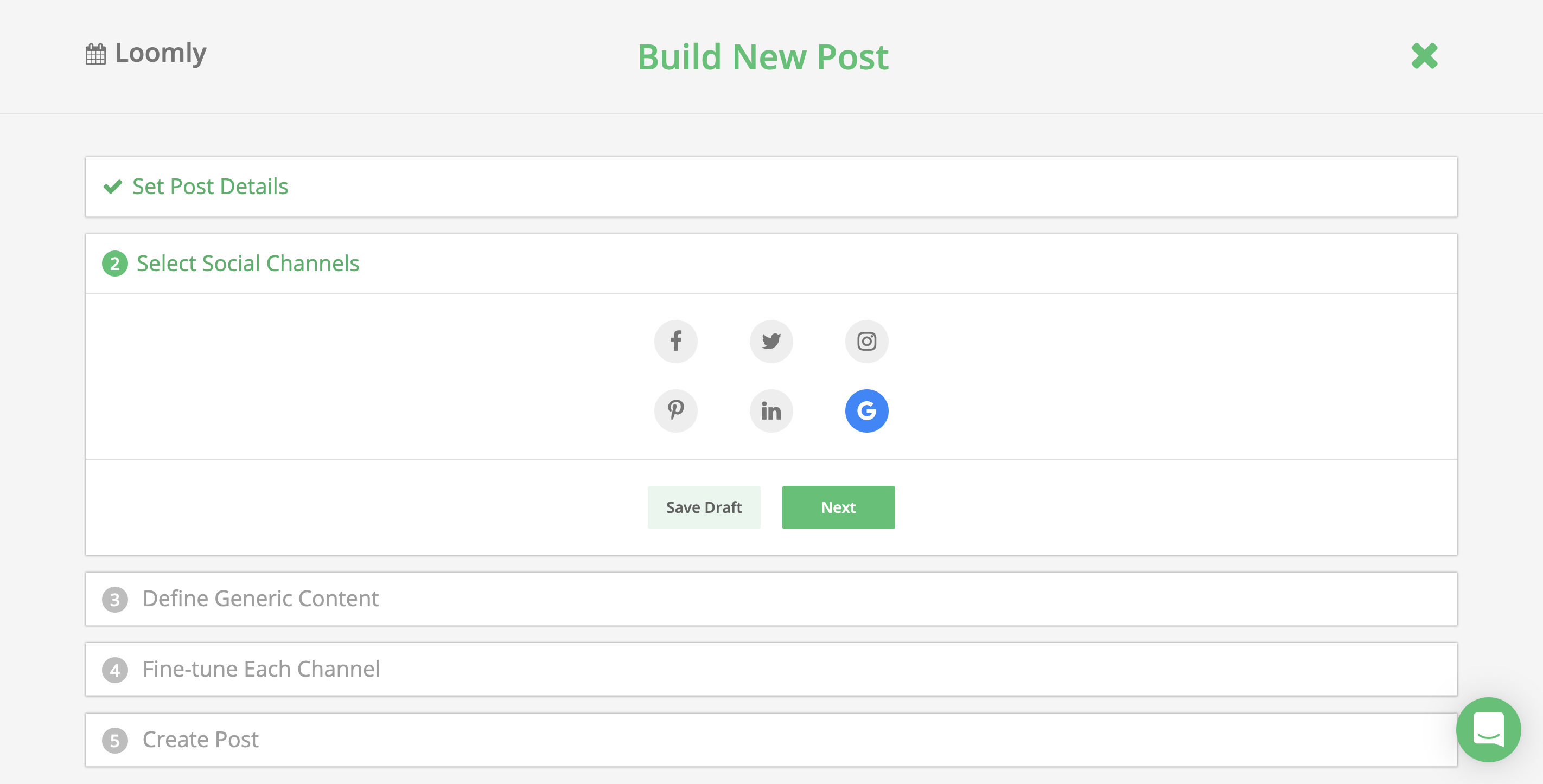 Loomly For Google My Business Post Builder Social Channels